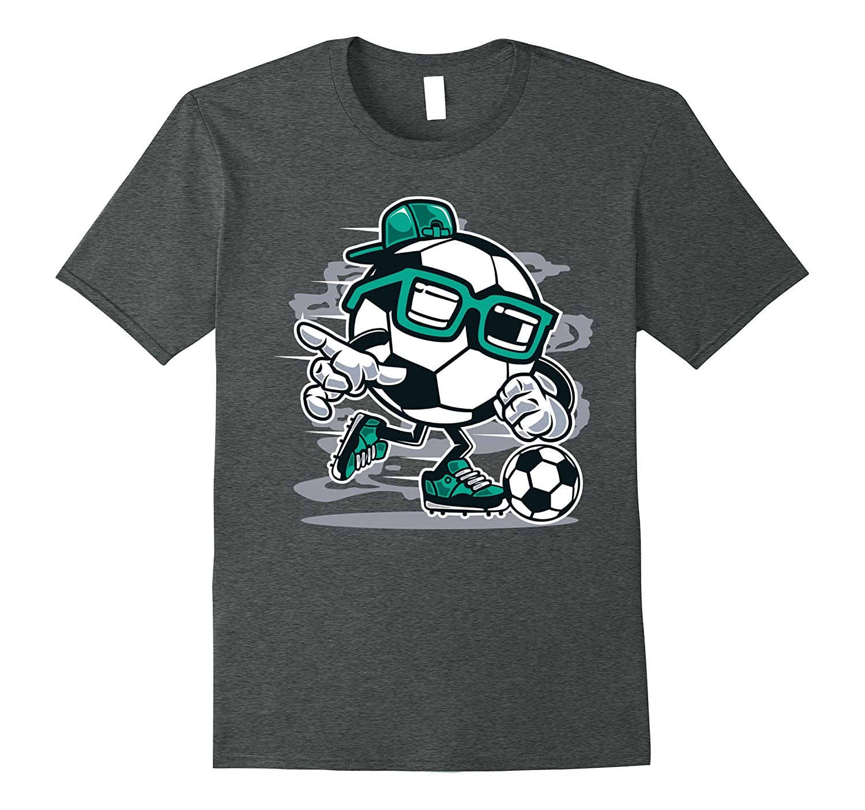 Cute Funny & Unique Street Soccer Cartoon Art T-Shirt & Gift-FL