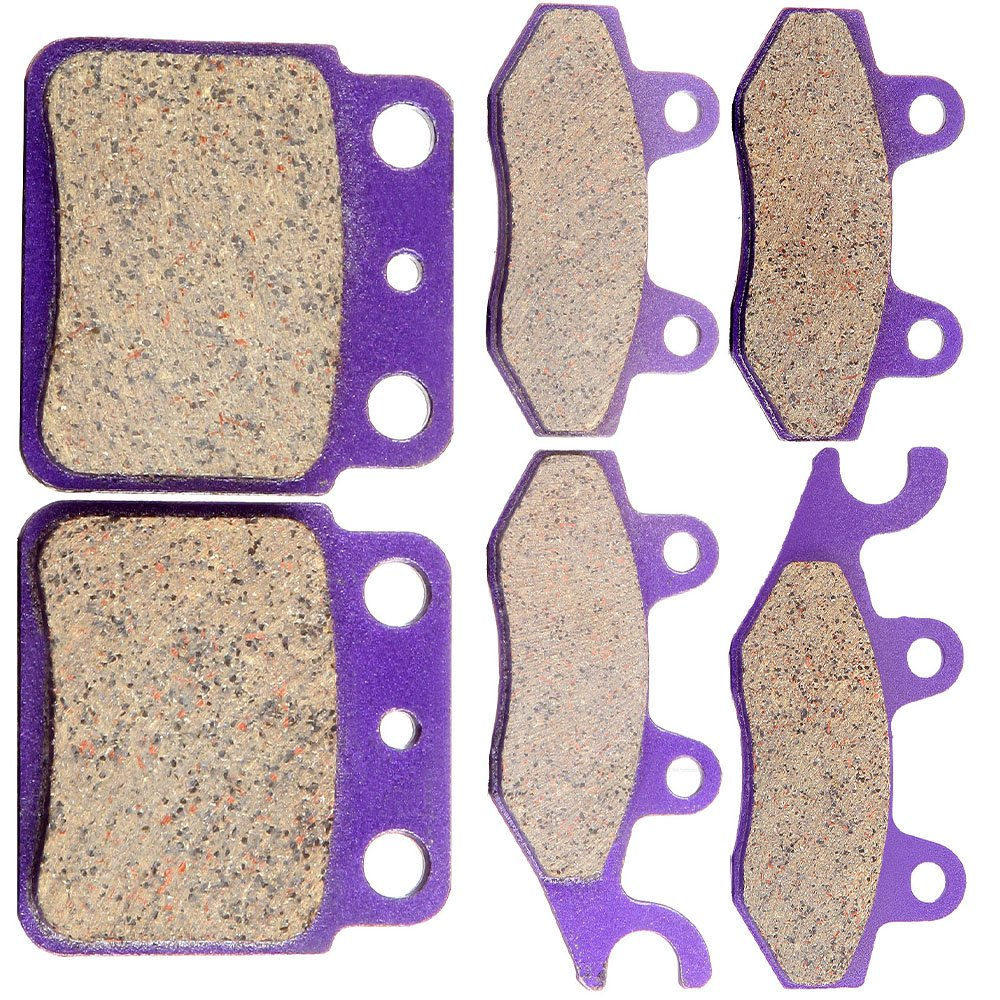 ECCPP FA135 FA165 FA137 Brake Pads Front and Rear Kevlar Carbon Fiber Replacement Brake Pads Kits Fit for 2006-2009 Suzuki Quadracer 450 LTR450 2x4,2009 Suzuki Quadracer 450 LTR450Z 2x4 Limited Editio SCITOO 991262-5206-1737501