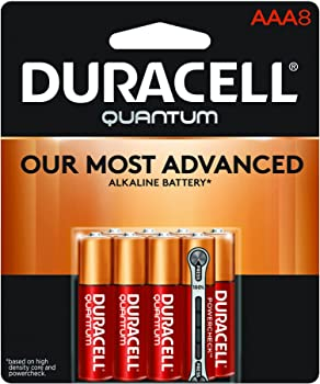 Duracell 8 Count Quantum AAA Alkaline Batteries for Household and Business