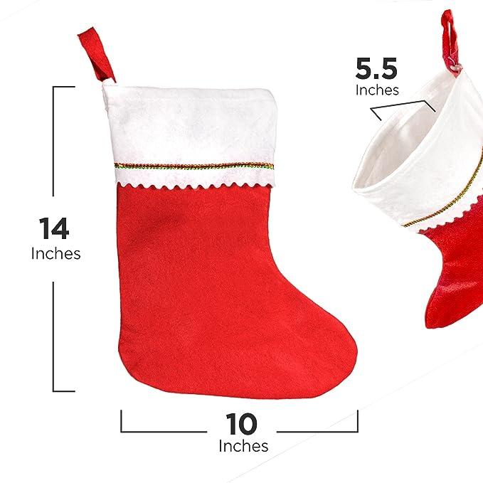 12 Christmas Stockings Bulk Pack Wholesale - Corporate Gifts Generic ...