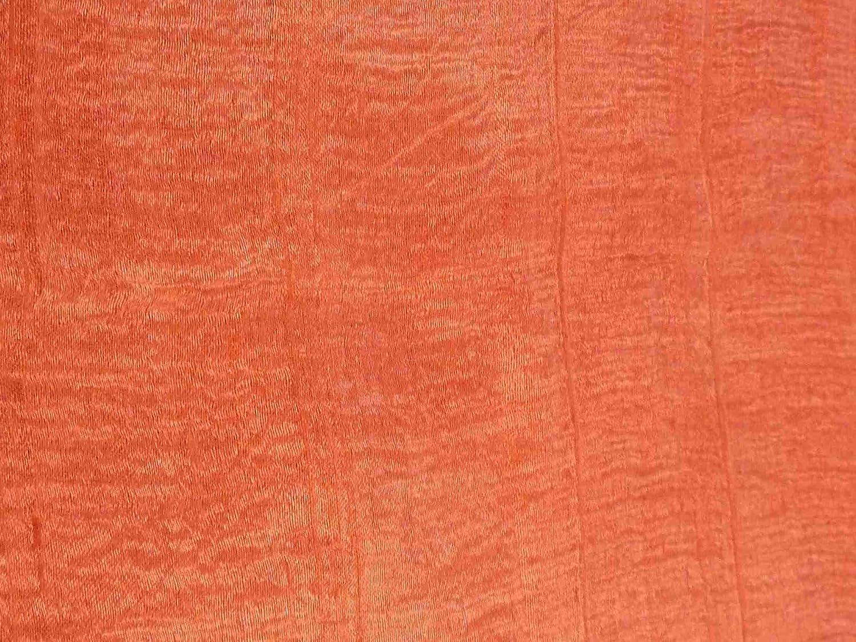 Pure Raw Silk Long Scarf Saigon Lua Van Weave Salmon by Pashmina /& Silk