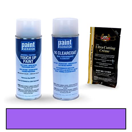 2009 Chevrolet Aveo Impression Blue Metallic 20/WA692R Touch Up Paint Spray  Can Kit By