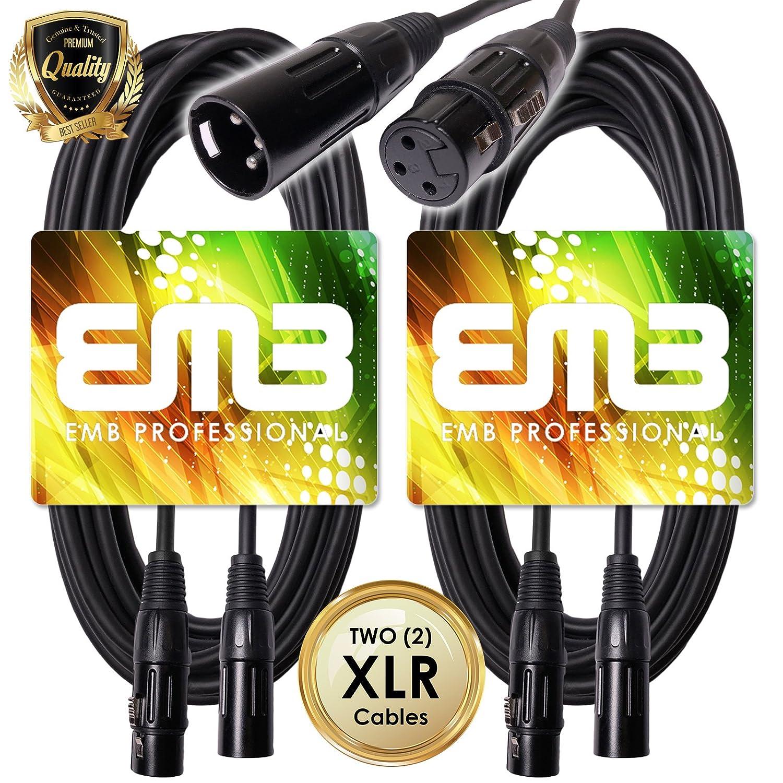 【 新品 】 EMB Professional 2 B07B4PBW99 -/ Pack Professional 25フィートXLRオスtoメスシールドマイク18 GaパッチXLRケーブル – Perfect for Studio/ Live Recording/ホーム/カラオケ/クラブサウンド品質(ハムnoノイズ。 ) B07B4PBW99, PeP TOMIYA:bafe3ffe --- vanhavertotgracht.nl