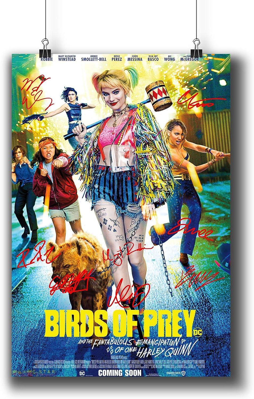 Amazon Com Pentagonwork Birds Of Prey Casts Signed Reprint Dc Comics Movie Poster 8 3x11 7 A4 Prints W Stickers 2020 Film Margot Robbie Autographed 1243 101 Posters Prints