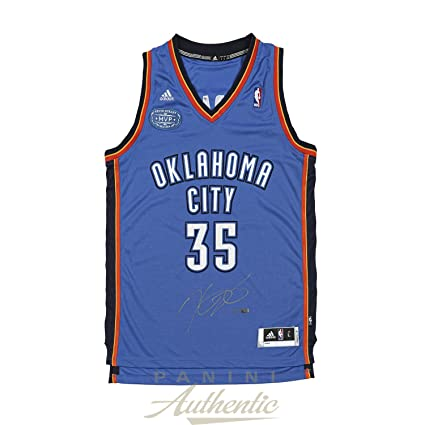 c1797704a Kevin Durant Autographed Blue Swingman Jersey with MVP Patch ~Limited  Edition to 135~ Panini