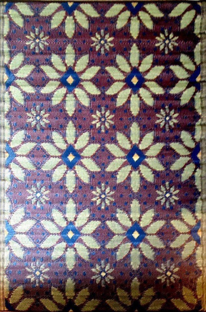 2 Pk 5'x7' Reversible Indoor Outdoor rug rv patio mat camping picnic garden mat 20379