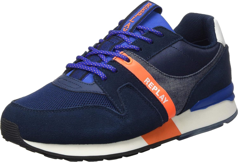REPLAY Adrien-Tigher, Zapatillas Hombre: Amazon.es: Zapatos y complementos