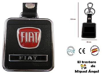 Llavero cuero y metal Fiat: Amazon.es: Coche y moto