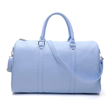 2775dacbca tuokener Sac de Voyage Femme Sacs Week End Femmes PU Leger Bandoulière  Duffle Bag Sac de Sport Gym Bag Waterproof (Bleu): Amazon.fr: Bagages
