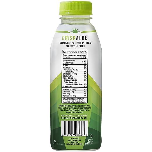 ALOE GLOE Agua de aloe natural, 15.2oz (paquete de 12 ...