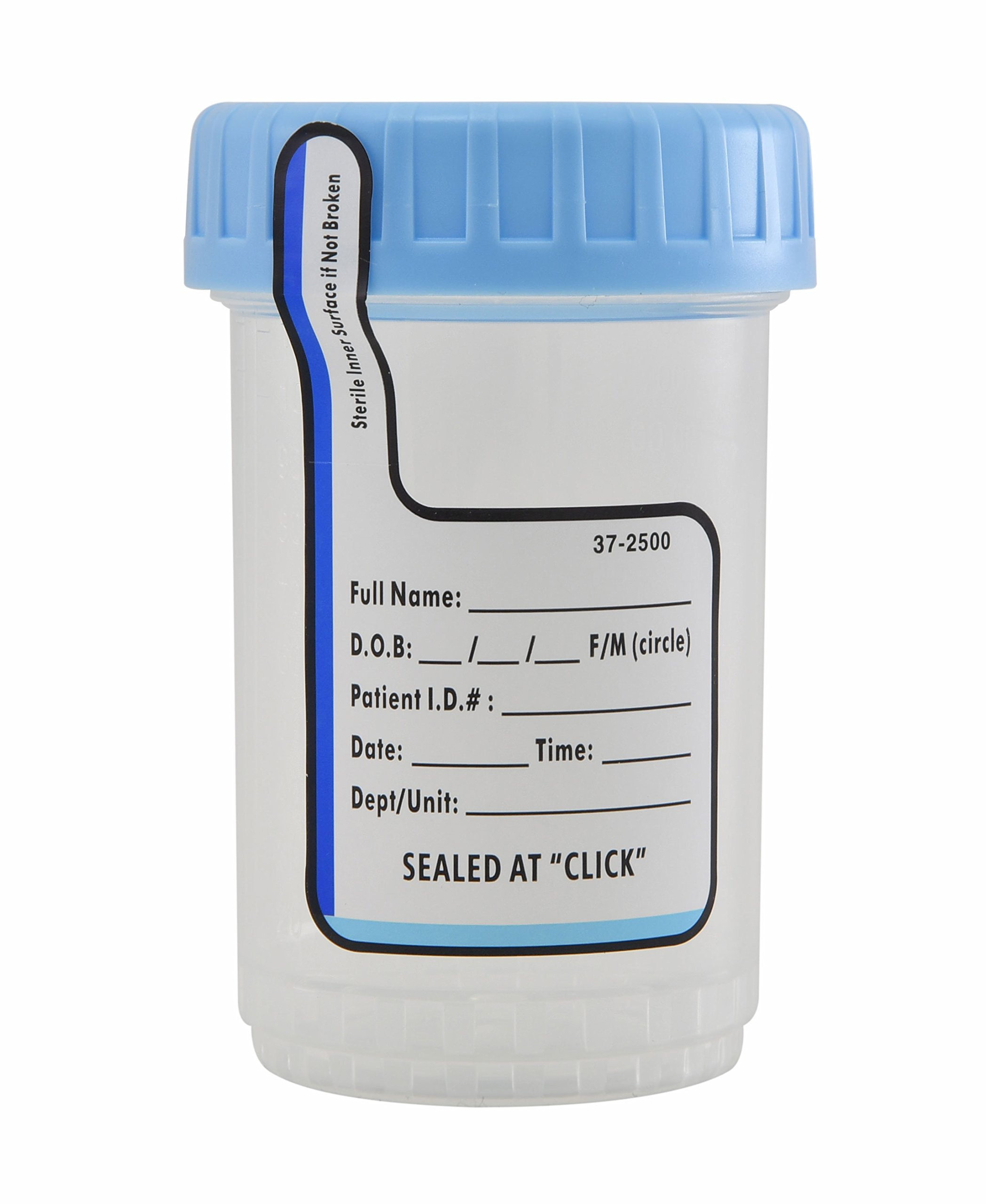 Medegen Medical Products PC4090-400S ClikSeal Container, 90 cc Capacity, Sterile (Pack of 400)
