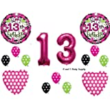 GIRL'S 13th Teenager Happy Birthday Party Balloons Decorations Supplies