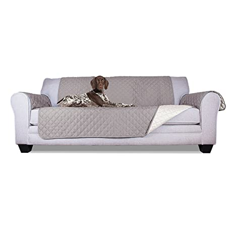Fine Aleko Psc03G Pet Furniture Slipcover Spill Scratch Pet Fur Protection Cover For Sofa Couch Bed 110 X 71 Inches Gray Gmtry Best Dining Table And Chair Ideas Images Gmtryco