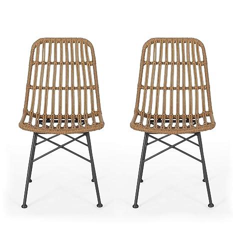 Amazon.com - Silverdew Indoor Wicker Dining Chairs (Set of 2 ...