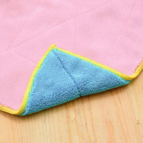 1PC Bamboo Fiber Cleaning Dish Cloth Wash Towel Double Sided Kitchen Supplies