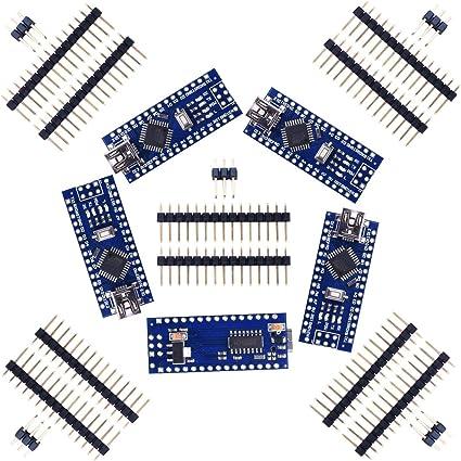 SODIAL 5set Nano V3.0 ATmega328P 5V 16M Modulo de placa micro-controlador para Arduino: Amazon.es: Bricolaje y herramientas