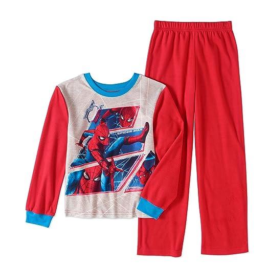 Amazon.com  Spider-Man Licensed Flannel 2 Piece Boys Pajama Set ... 28b4ba1c7