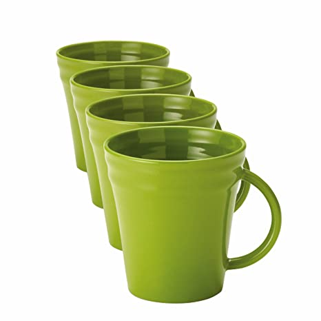 Amazon.com | Rachael Ray Dinnerware Double Ridge 4-Piece Mug Set ...