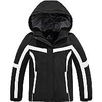 Wantdo Girl's Waterproof Ski Jacket Windproof Snowboard Jackets Insulated Winter Coats Hooded Fleece Parka