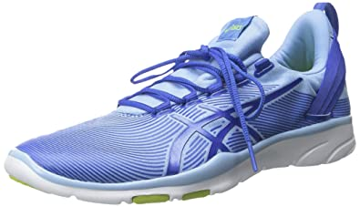 ASICS Women's GEL Fit Sana 2 Fitness Shoe, Blue Bell/Blue Purple/Lime