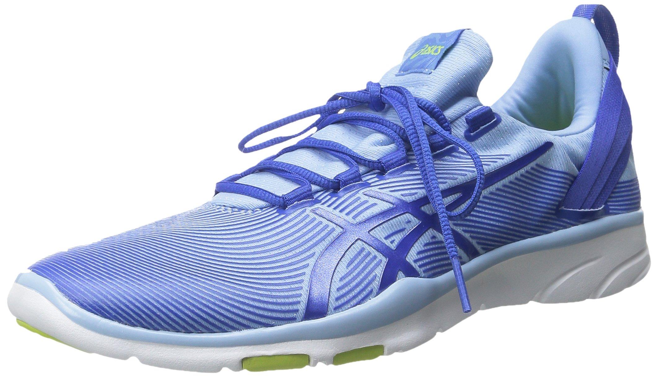 ASICS Women's Gel Fit Sana 2 Fitness Shoe, Blue Bell/Blue Purple/Lime, 6.5 M US