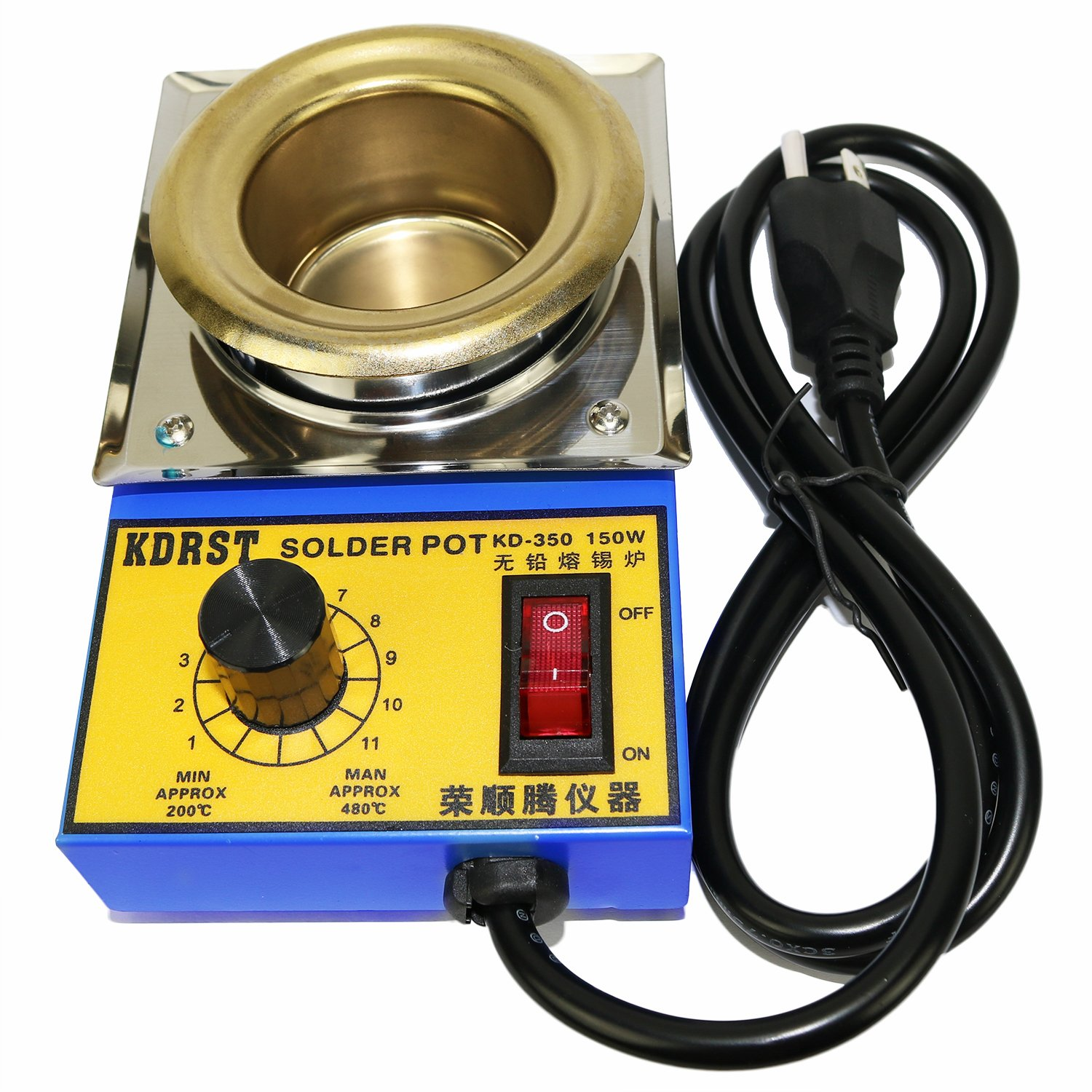 50mm Lead Free Solder Pot with 500g Capactity for Welding and Soldering Bath, 110V 150W