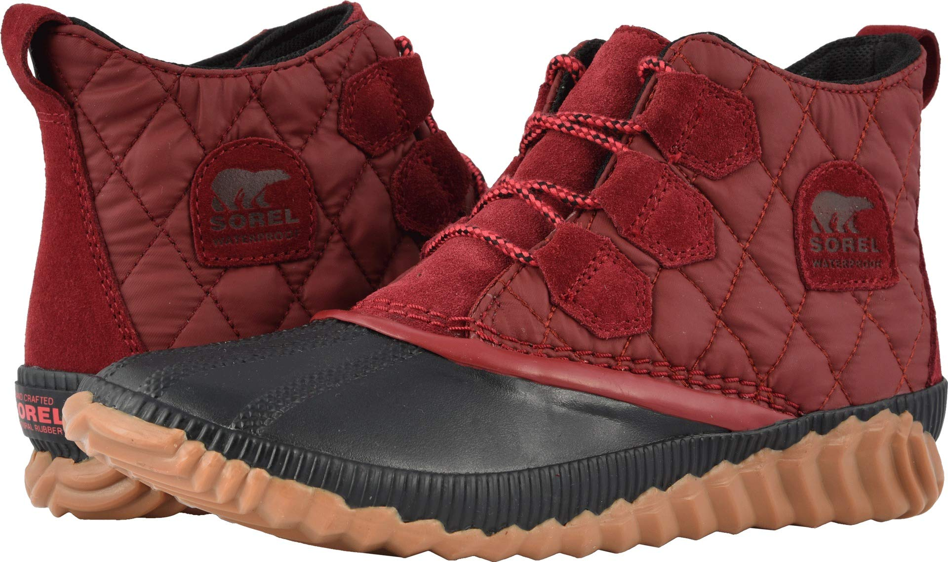 23a03d1819f Galleon - SOREL Women s Out  N About¿ Plus Red Element Suede Combination 8  B US