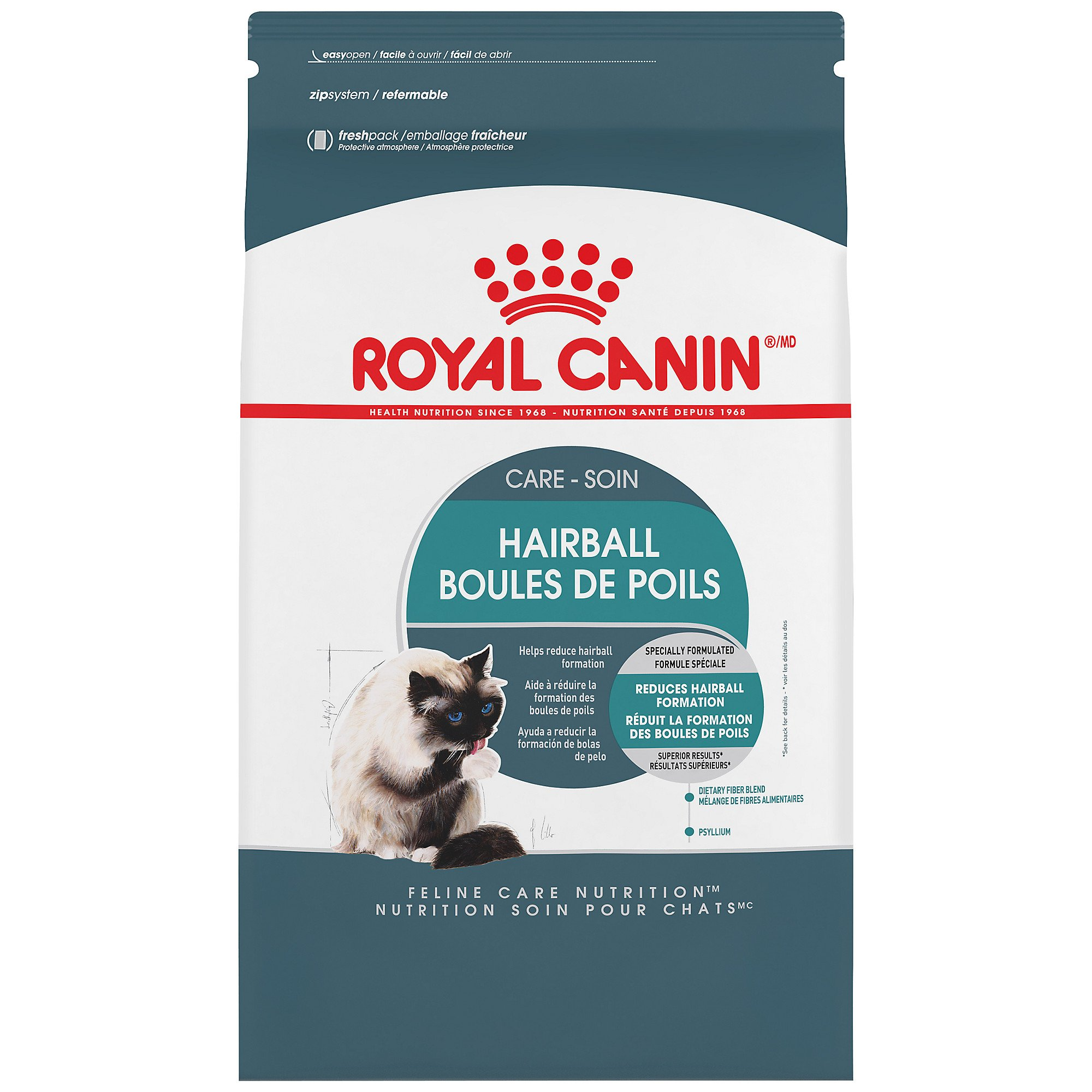 Royal Canin 443314 Feline Care Nutrition Hairball Care Cat Food, 14 lb