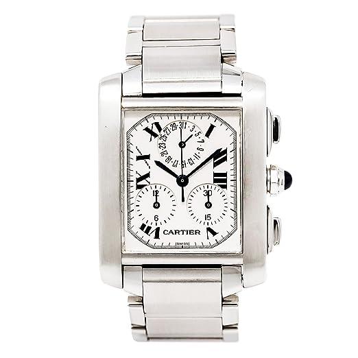 Cartier Tank Francaise Swiss-Quartz Mens Reloj 2303 (Certificado) de Segunda Mano: Cartier: Amazon.es: Relojes