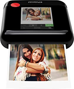 Zink Polaroid WiFi Wireless 3x4 Portable Mobile Photo Printer (Black) with LCD Touch Screen, Compatible w/ iOS & Android