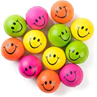 Be Happy! Neon Colored Smile Funny Face Stress Ball - Happy Smile Face Squishies Toys Stress Foam Balls for Soft Play…