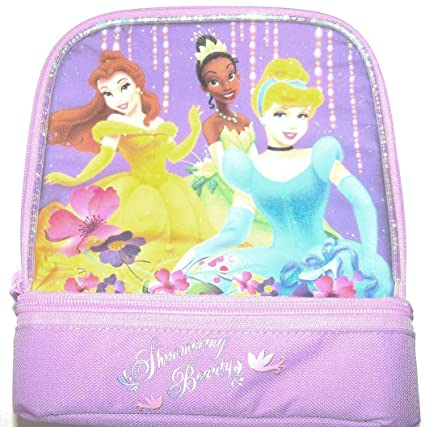8611c7c0f78a Disney Princess Lunchbox Lunch Kit Bag Tiana Cinderella Purple