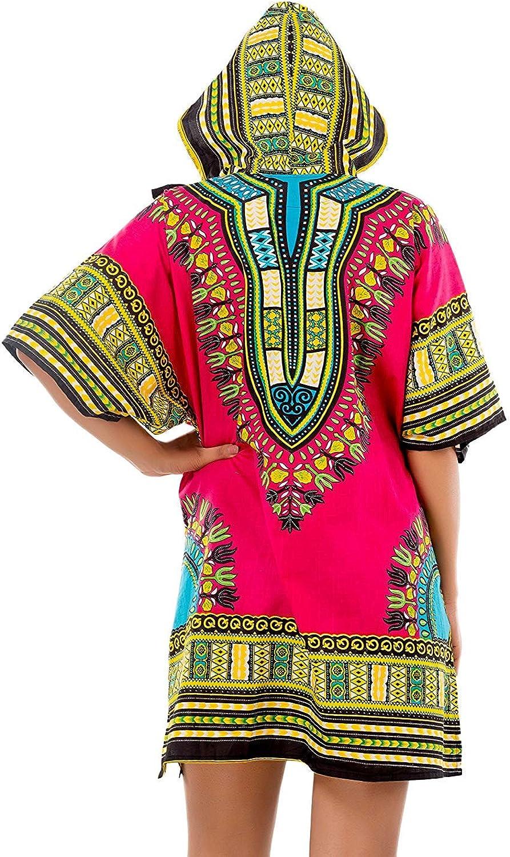Women mini Dress top Hoodie Shirt Dashiki free size shirt with hoody Summer Dashiki African Shirt Dashiki Shirt with Head Cover Hoodie
