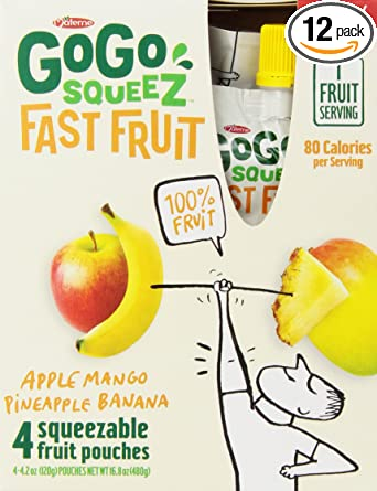 GoGo Squeez applesauce on the go Fast fruta, 4,2 Onza bolsas ...