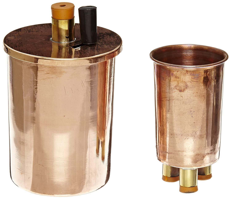 EISCO Copper Polished Calorimeter Set, 75mm Diameter x 100mm Height PH0455