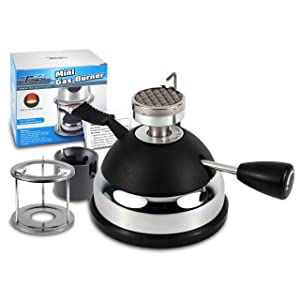MR.TORCH Butane Mini Burner for Tabletop Siphons Syphon, w Furnace Stand and Assembly Rack,Ceramic Windproof Torch Head,Portable Cooking Stove,Coffee Espresso Maker,Chafing,Soup Tureens,Fondue,Bunsen