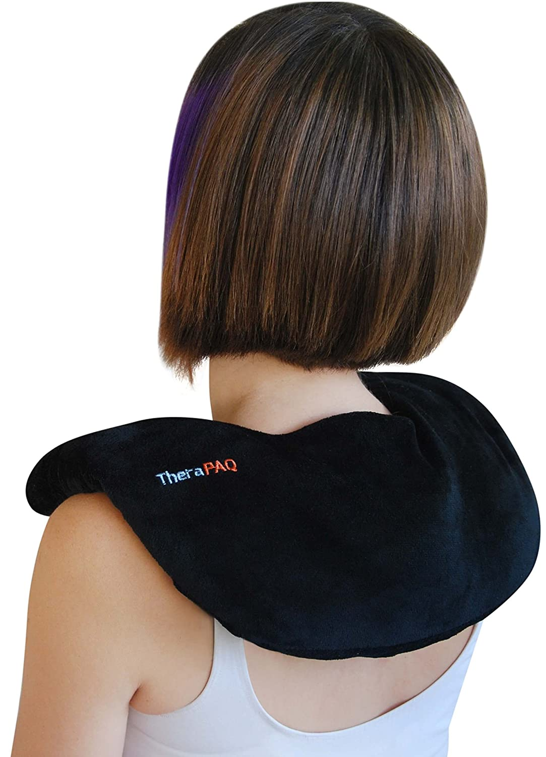 Neck and Shoulder Pain Relief Heating Pad by TheraPAQ - Best for Natural Moist Heat Therapy or as Cold Pack - Reusable, Microwave Heated Wrap - Non-Scented