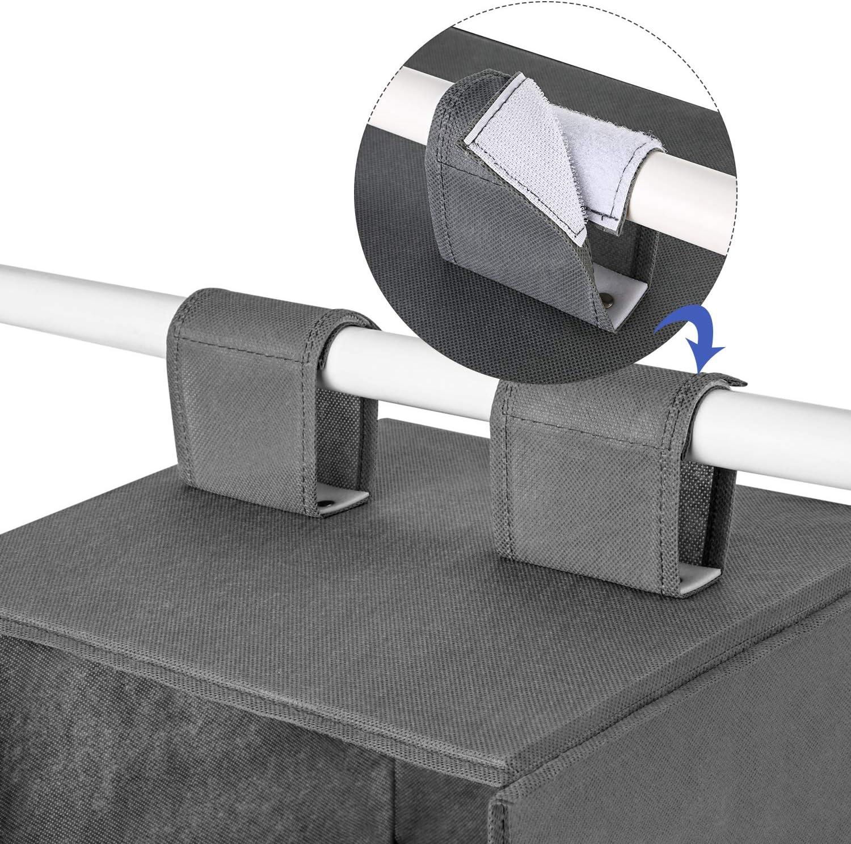 Closet H/ängeregal maidmax 6-shelf klappbar zum Aufh/ängen Accessory Organizer mit 2/erweitern Klettverschl/üsse f/ür Kleidung und Schuhe Speicher f/ür Geschenk