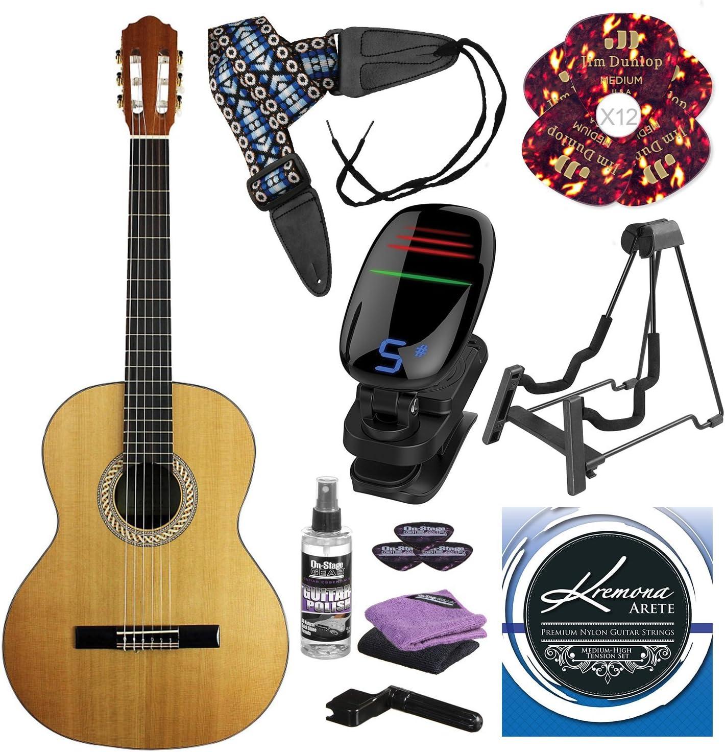 Kremona S65C Soloist Series - Guitarra con cuerda de nailon y ...