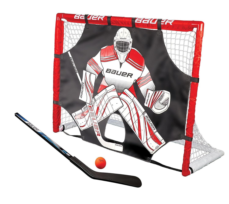 Bauer calle porterías de hockey con bate, pelota y Shooter I ...