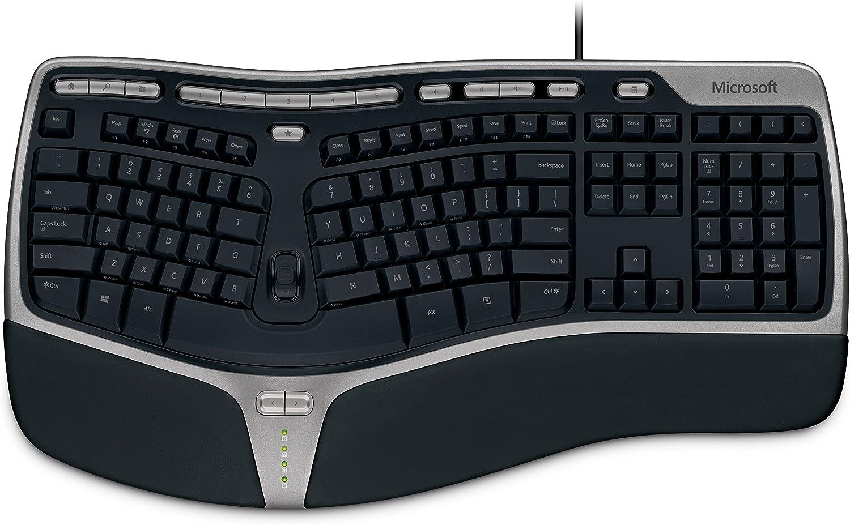Microsoft Natural Ergonomic Keyboard 4000 f/Business - Teclado (USB, QWERTY, 0-35 °C, Negro, -40-60 °C, 5-80%)