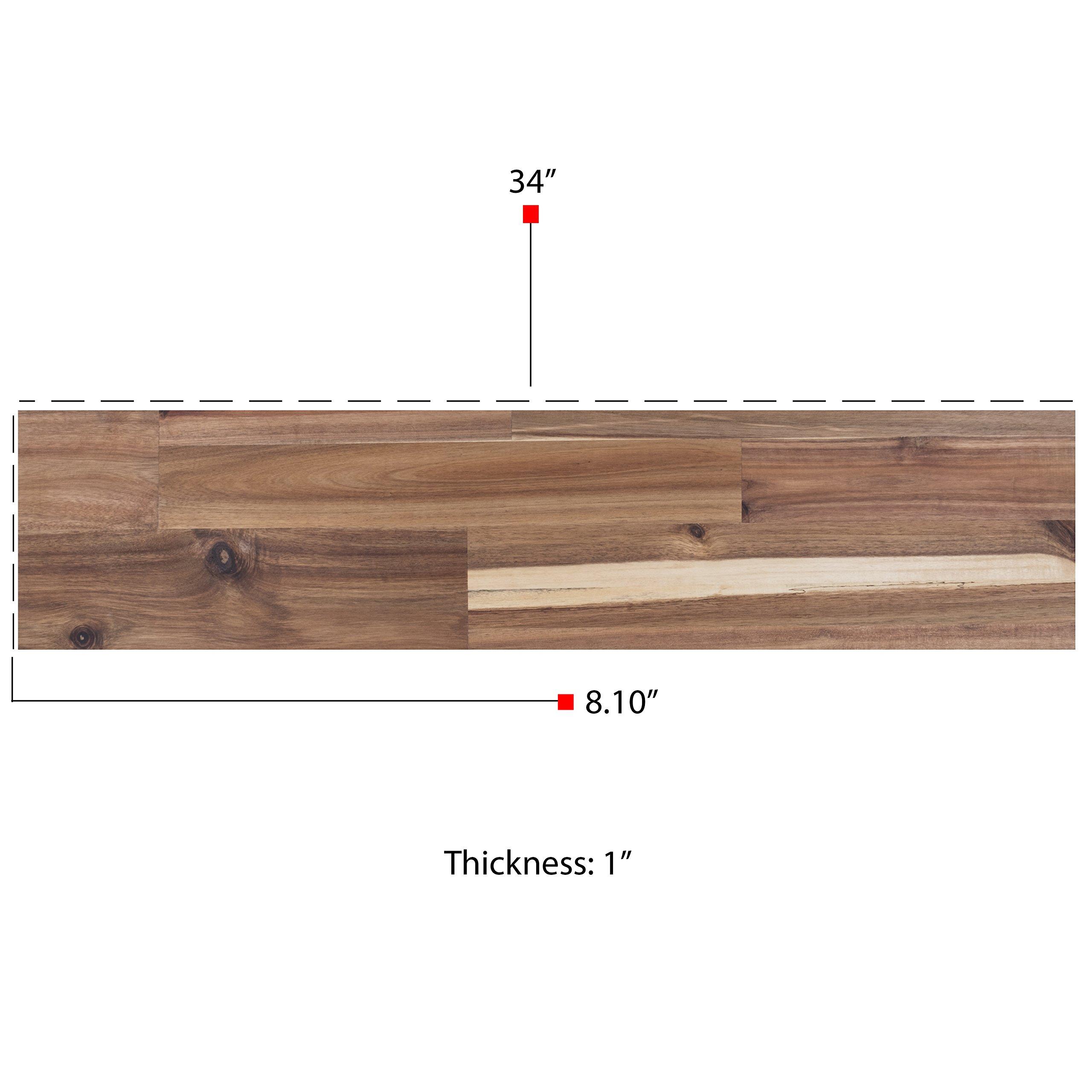 Bright Maison Wall Mountable Rectangular Cheese Serving Board and Decor Original Acacia Wood