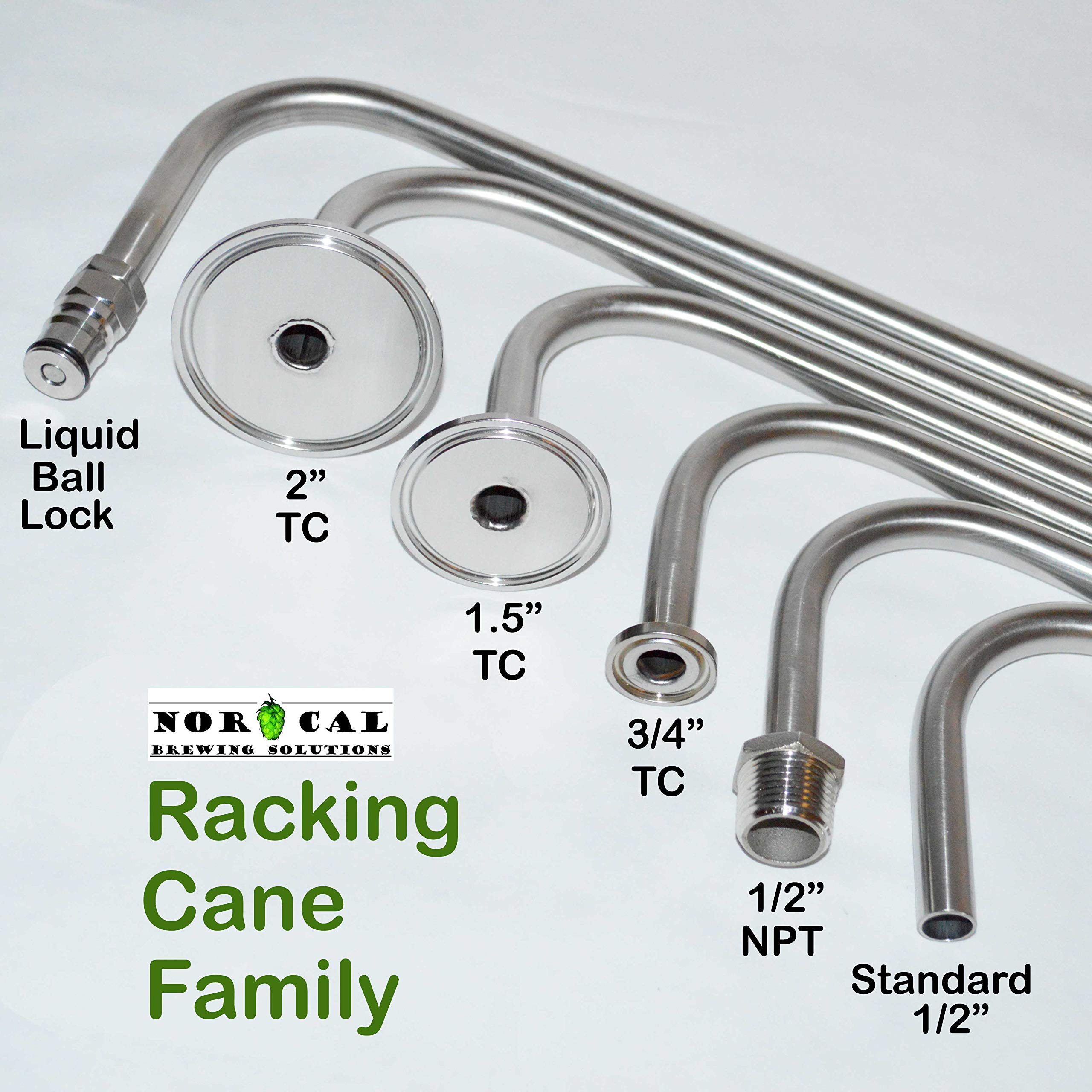Jaybird 304 Stainless Steel 34'' Long x 1/2'' Diameter Racking Cane for Barrels by NorCal Brewing Solutions (Image #3)