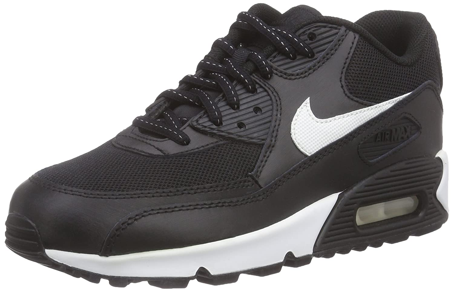 newest 4d108 34f76 Nike Air Max 90 Flash (Gs), Boys  Trainers, Black - Schwarz (001 BLACK SUMMIT  WHITE), 4 UK  Amazon.co.uk  Shoes   Bags