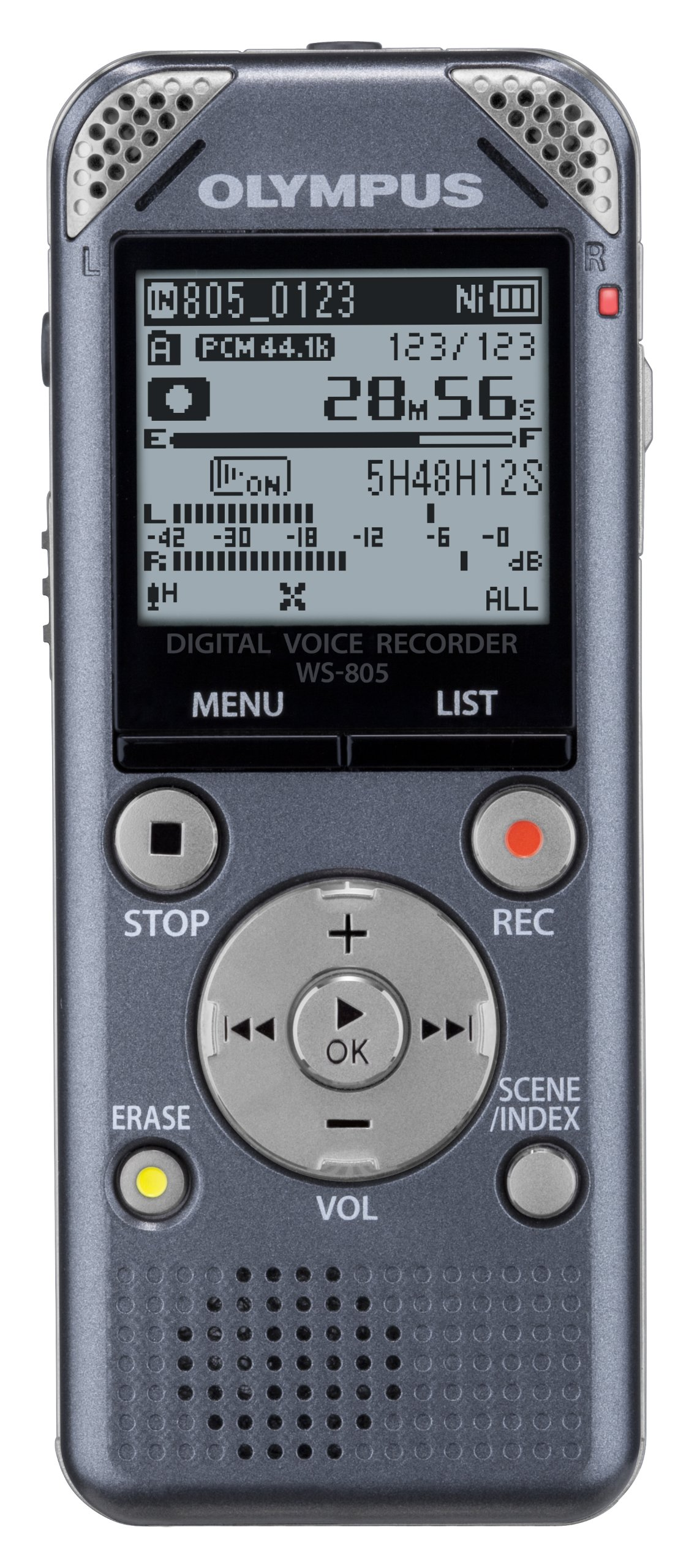 [Amazon.co.jp Limited Olympus Ic Recorder Voicetrek 4gb Linear Pcm Support Fm Tuner with Gry Gray Ws-805