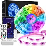 DreamColor LED Strip Lights,LINCCRAS 32.8ft RGBIC Waterproof Smart Music Sync Light Strip,Remote or Wi-Fi Phone App Controlle