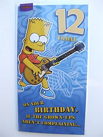 Simpsons Birthday Card For A 12 Year Old By Hallmark Amazon