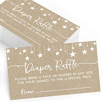 Diaper Raffle Cards For Baby Shower
