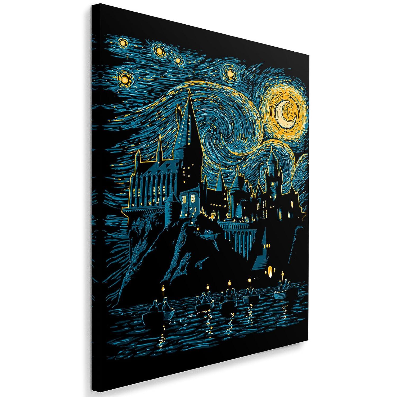 Feeby Fantasie vom DDJVIGO Leinwandbild - - - 50x70 cm - schwarz blau gelb 94491d