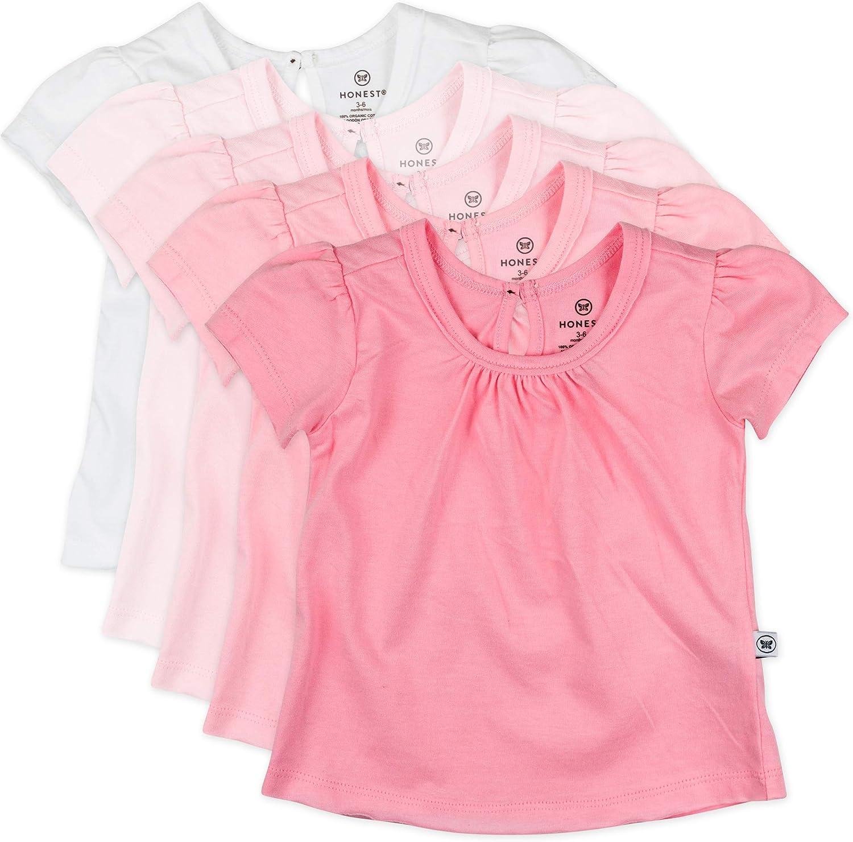 HonestBaby Baby Organic Cotton Puff Sleeve T-Shirt Multi-Packs: Clothing